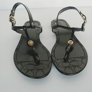 Coach | Jelly Sandals black EUC sz 39